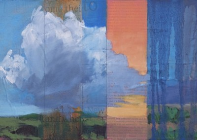 I Learned How Awesome Nature Is - oil and mixed media, contemporary landscape paintings by New Mexico artist Dawn Chandler