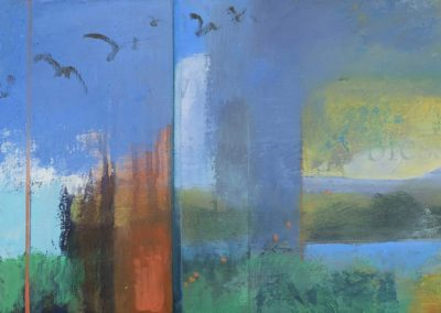 Summer Soaring - contemporary abstract landscape painting by New Mexico artist Dawn Chandler