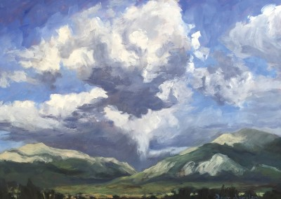 clouds over the collegiate range, colorado