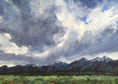 the wall of the tetons, wyoming—SOLD