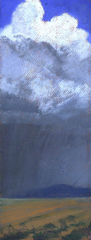 new mexico storm, pastel, by artist dawn chandler
