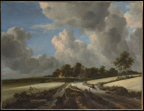 Jacob Van Ruisdael's oi painting, Wheat Fields