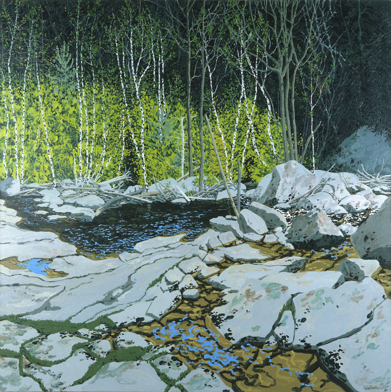 prospect stream oil painting by neil welliver