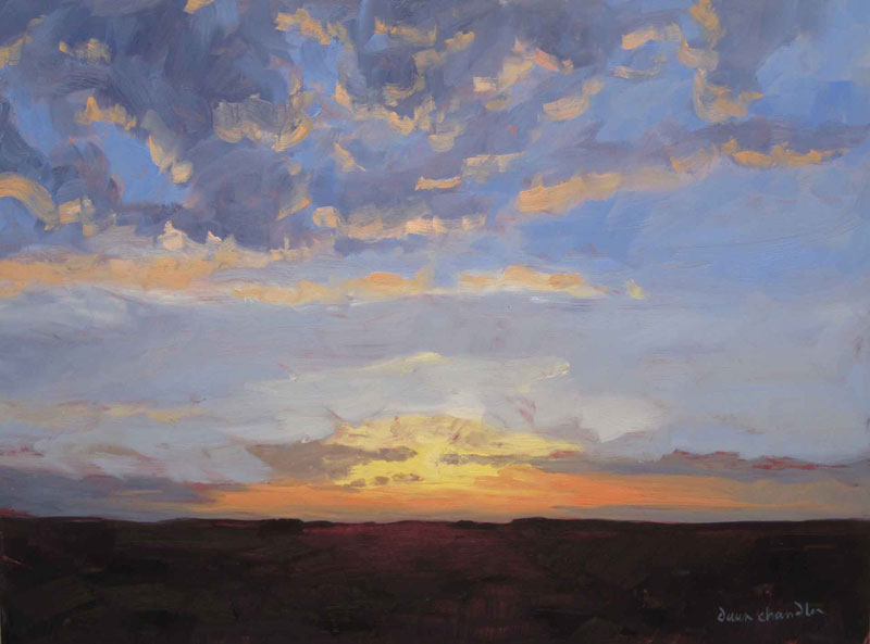 new mexico morning - oil painting by dawn chandler