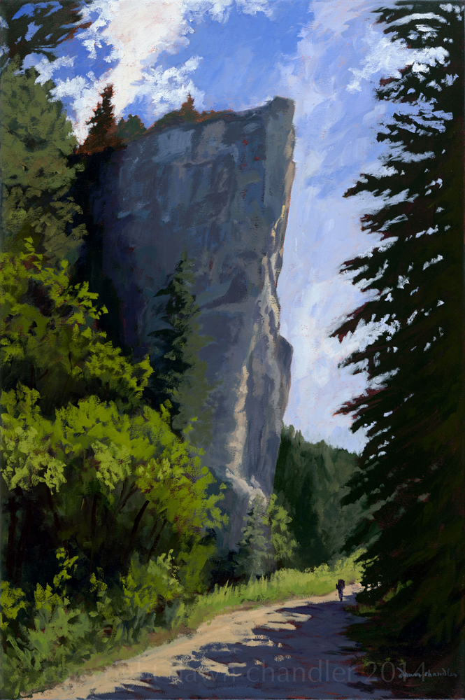 lovers leap return, oil painting on canvas by dawn chandler
