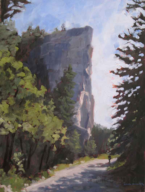 lovers leap looking west - oil painting by dawn chandler