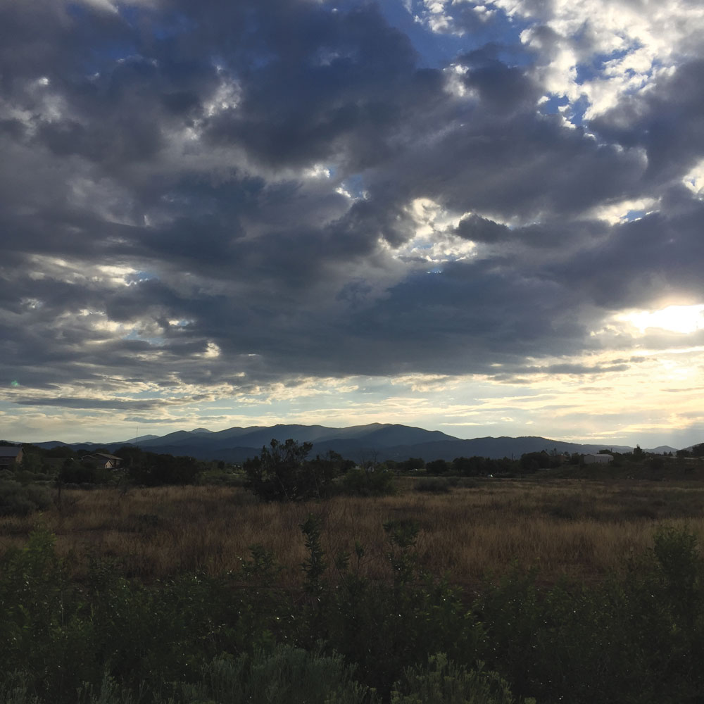 santa fe, new mexico morning, 17 august 2016, photo by dawn chandler
