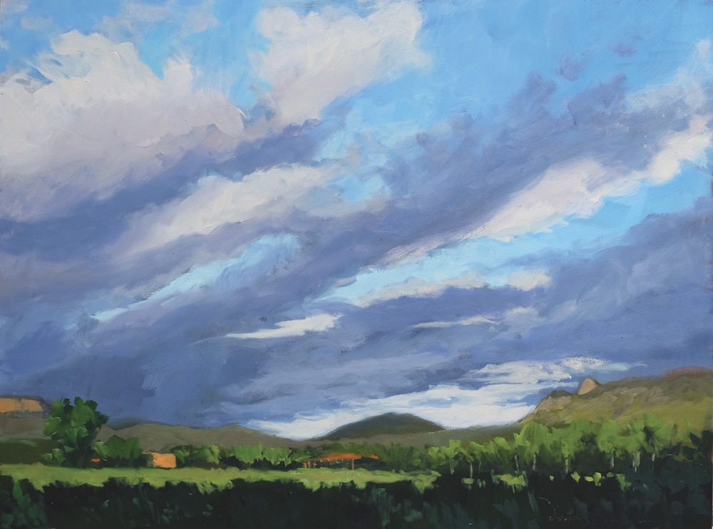morning of our first day, philmont, oil landscape painting by santa fe artist dawn chandler