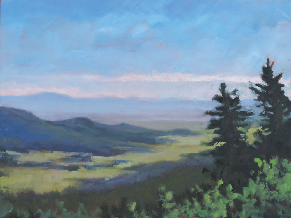 east from rayado canyon, philmont, oil landscape painting by santa fe artist dawn chandler