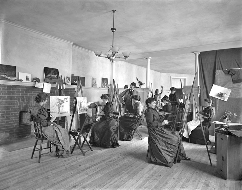 santa fe artist dawn chandler's creative change - vintage photo of frances benjamin johnston classrooms c1889