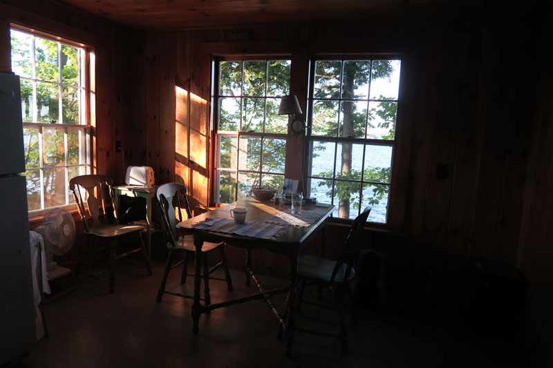 A quiet early morning moment at my aunt's lake home on Lake Wentworth, near Wolfboro, New Hampshire; photo by Dawn Chandler, Santa Fe artist.