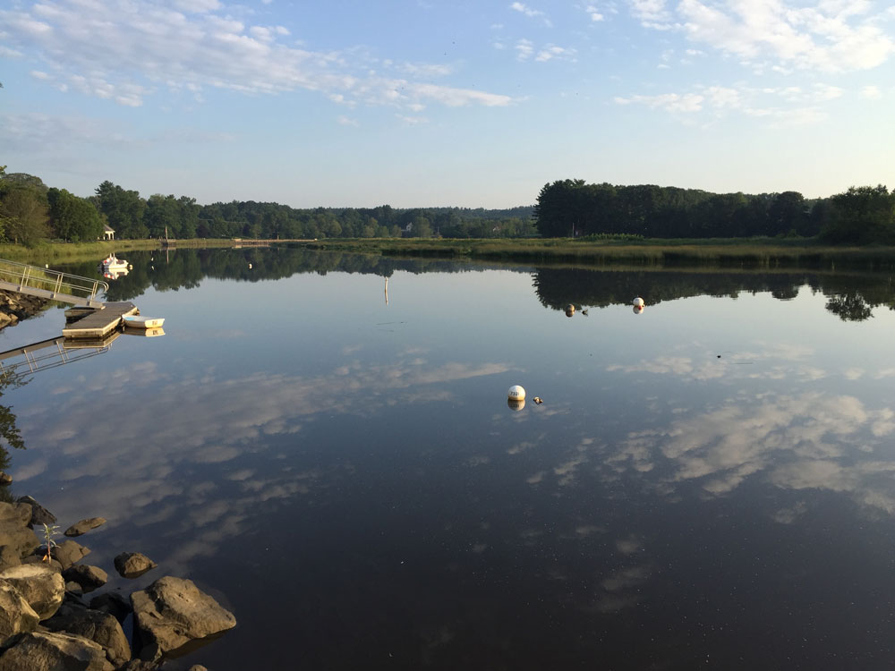 View of the Exeter River, New Hampshire, early one August morning. Photo by Santa Fe artist Dawn Chandler