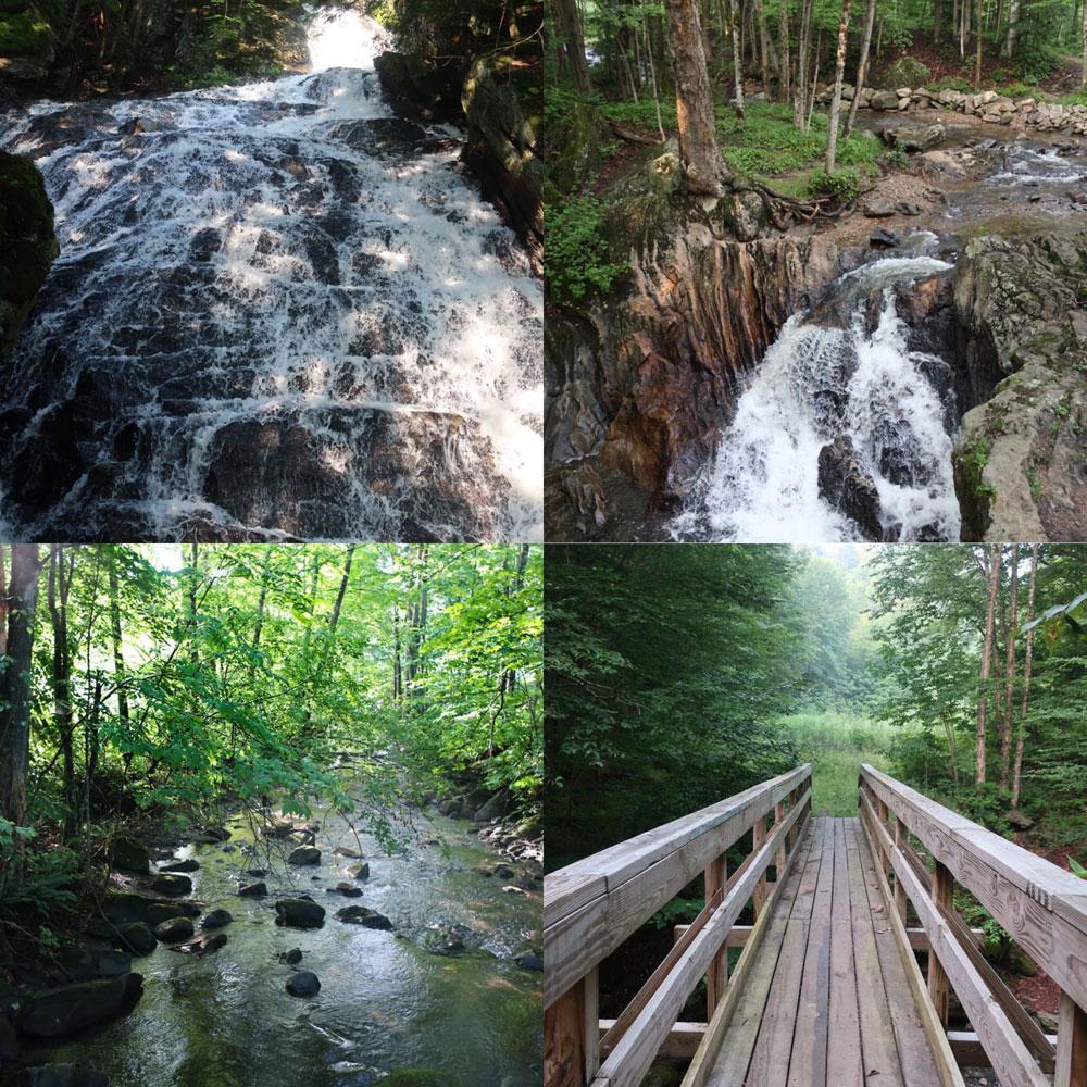 Along the Vermont Appalachian Trail - mountain streams and bridges - photo by TaosDawn - Santa Fe artist and backpacker Dawn Chandler