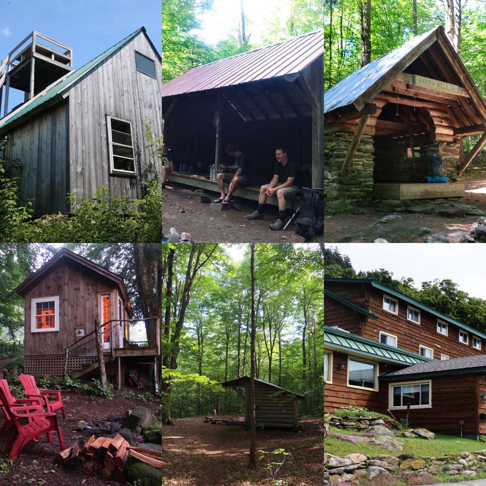 Along the Vermont Appalachian Trail - lodgings - photo by TaosDawn - Santa Fe artist and backpacker Dawn Chandler
