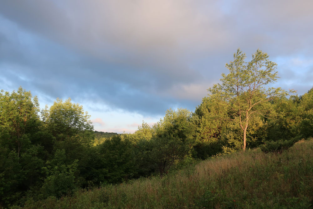 Along the Vermont Appalachian Trail - morning sky - photo by TaosDawn - Santa Fe artist and backpacker Dawn Chandler
