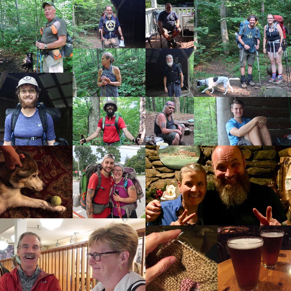 Along the Vermont Appalachian Trail - trail friends - photo by TaosDawn - Santa Fe artist and backpacker Dawn Chandler