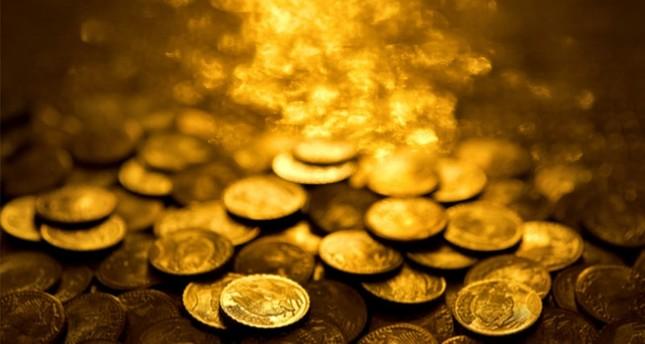 treasure trove of gold coins