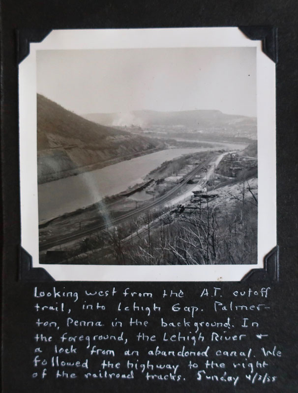 Photo c. 1955 looking west from the AT into Lehigh Gap taken by Stephen Chandler, father of artist Dawn Chandler