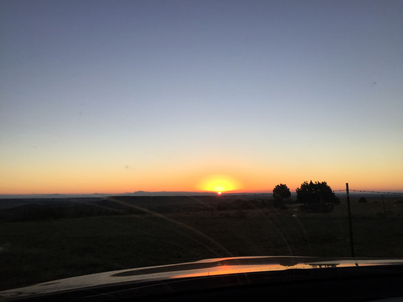 september sunrise at philmont - photo by dawn chandler