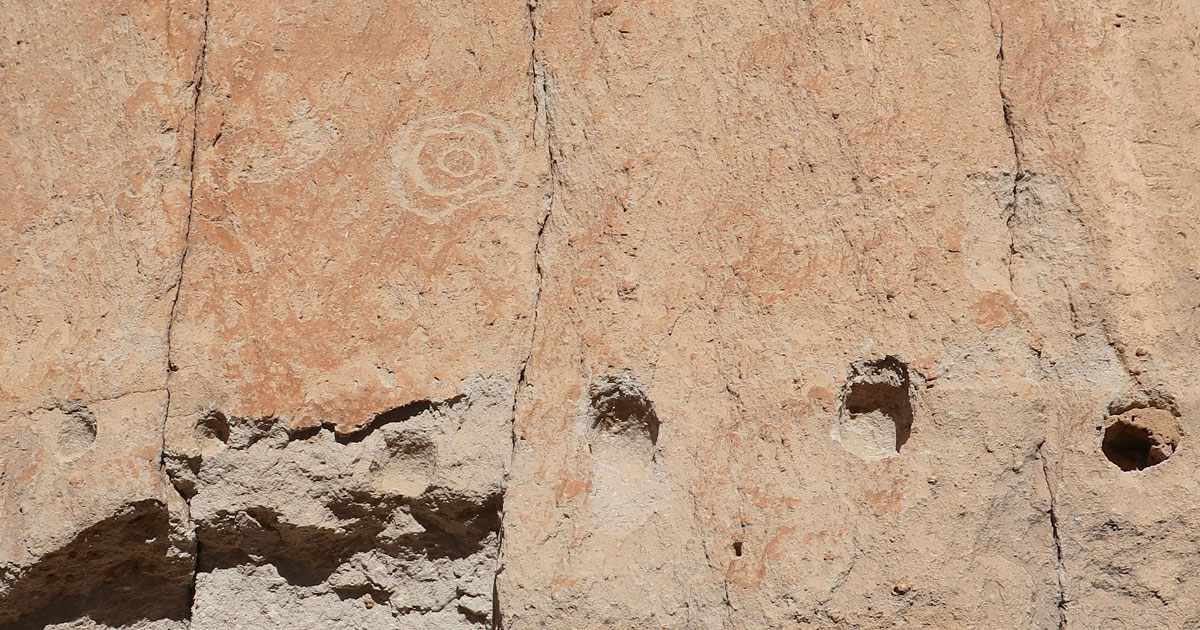 Petroglyphs and ancient architectural beauty found at Bandelier National Monument as photographed by artist Dawn Chandler