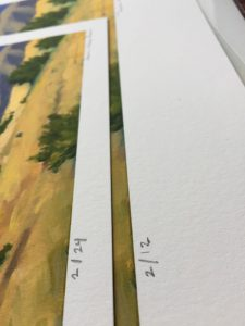 Numbering of Dawn Chandler's latest print edition ~ High Country Snow