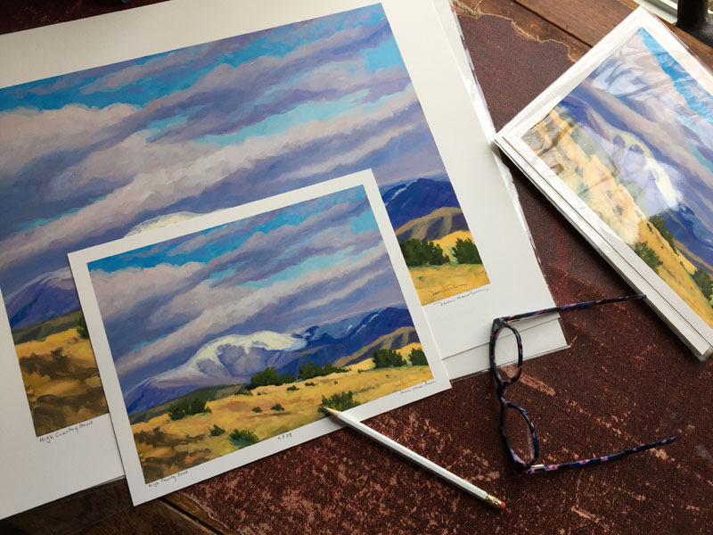 Limited edition prints of High Country Snow - Philmonts Baldy Mountain — by New Mexico artist Dawn Chandler