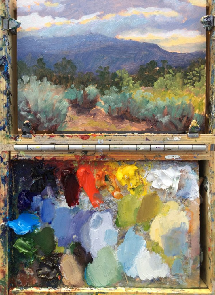 Plein air painting of Santa Fe by artist Dawn Chandler
