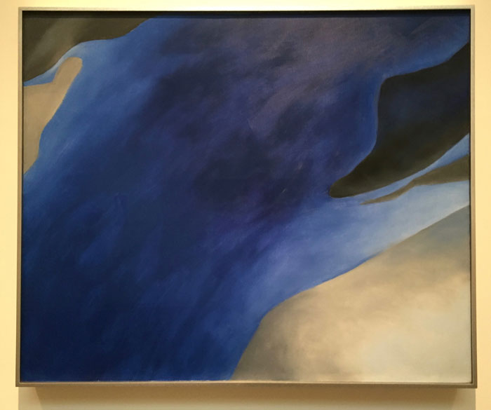 Georgia O'Keeffe 'Blue-A' oil on canvas, 1959
