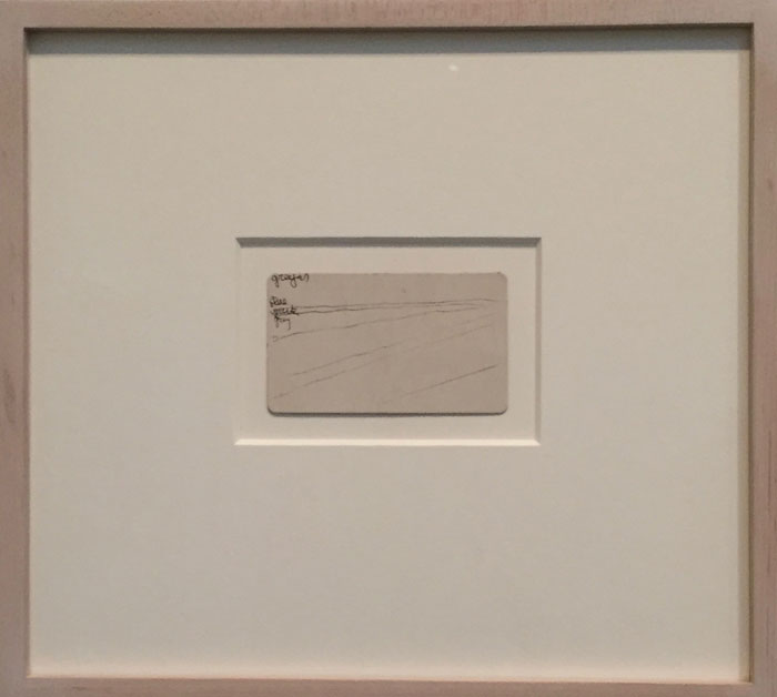 Georgia O'Keeffe, Untitled (Abstraction), black pen on paper, 1963/64