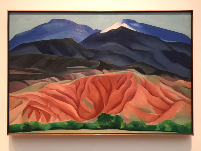 Georgia OKeeffe 'Black Mesa Landscape, New Mexico/Out Back of Marie's II, oil on canvas, 1930