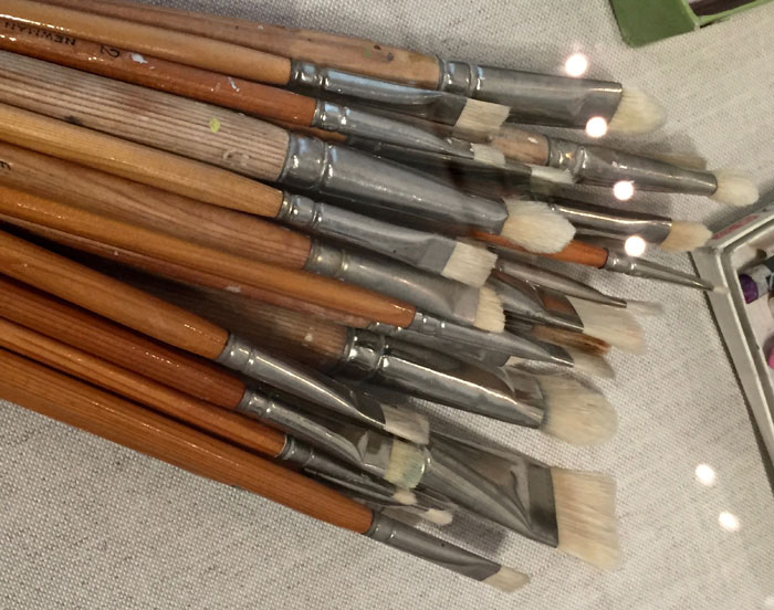 Georgia OKeeffe's paint brushes.