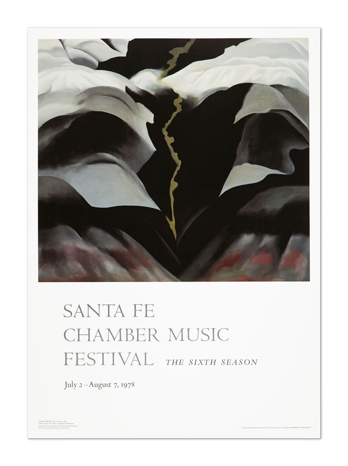 Georgia O'Keeffe poster for the Santa Fe Chamber Music Festival 1978.