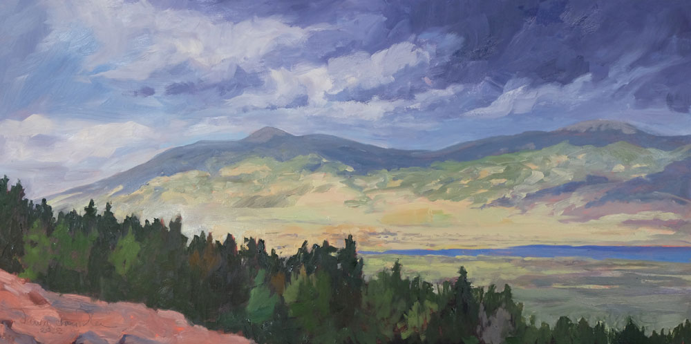 Eric and Katie's View, Moreno Valley, New Mexico landscape painting by artist Dawn Chandler
