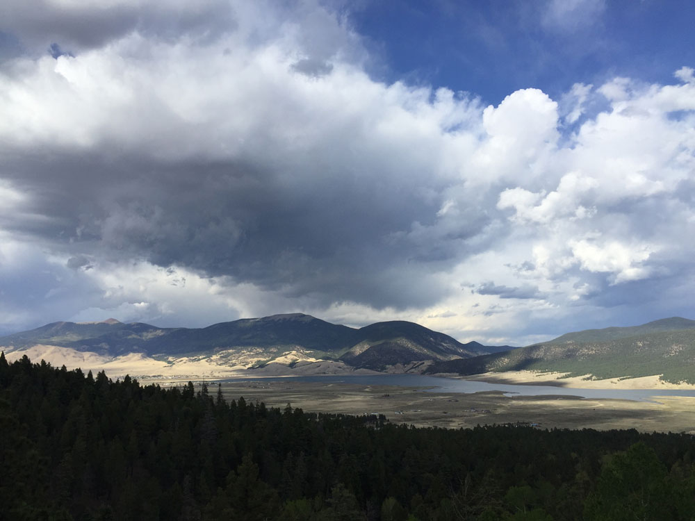 Northern New Mexico's Baldy Mountain and Touch Me Not. Photo by artist Dawn Chandler