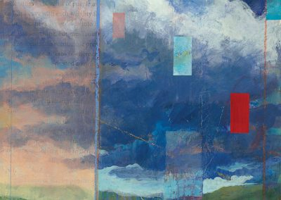 Cloud Walker I - contemporary abstract landscape painting by New Mexico artist Dawn Chandler