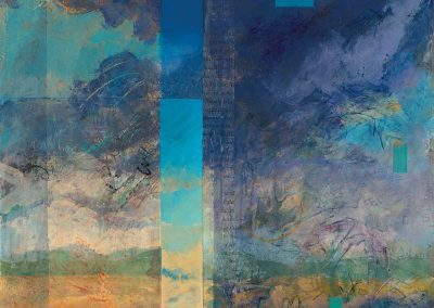 Cloud Walker II - contemporary abstract landscape painting by New Mexico artist Dawn Chandler
