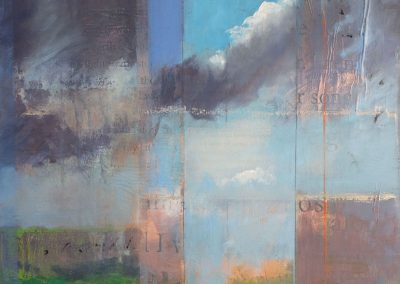High Desert Song - contemporary abstract landscape painting by New Mexico artist Dawn Chandler