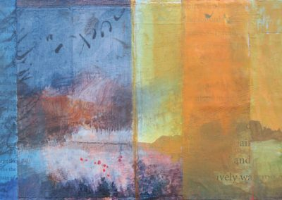 Of Lively Waking Solitude - contemporary abstract landscape painting by New Mexico artist Dawn Chandler