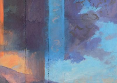 Step Out Into the Day - contemporary abstract landscape by New Mexico artist Dawn Chandler