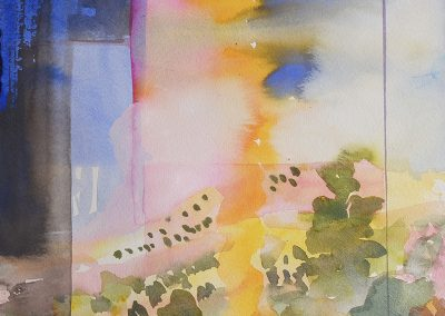 watercolor wander painting 2020 01 by New Mexico artist Dawn Chandler