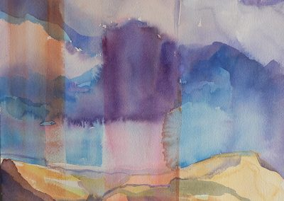 watercolor wander painting 2020 02 by New Mexico artist Dawn Chandler