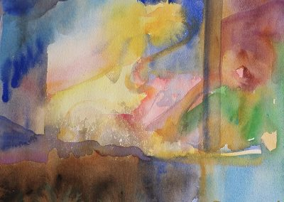 watercolor wander painting 2020 03 by New Mexico artist Dawn Chandler