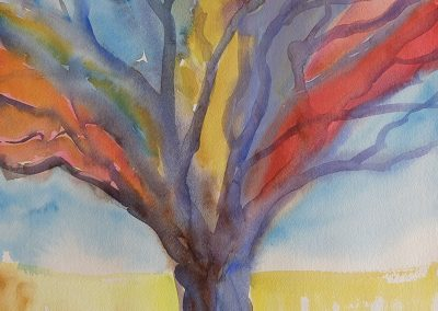 watercolor wander painting 2020 07 by New Mexico artist Dawn Chandler