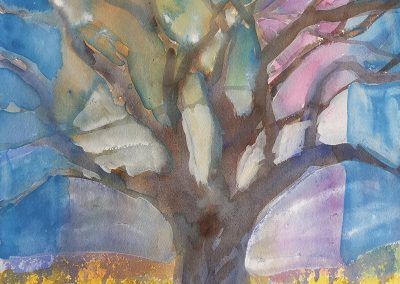 watercolor wander painting 2020 08 by New Mexico artist Dawn Chandler