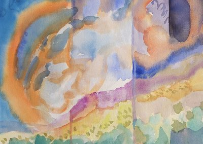 watercolor wander painting 2020 11 by New Mexico artist Dawn Chandler