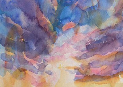 watercolor wander painting 2020 13 by New Mexico artist Dawn Chandler