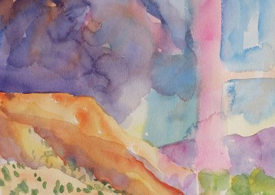 watercolor wander painting 2020 14 by New Mexico artist Dawn Chandler