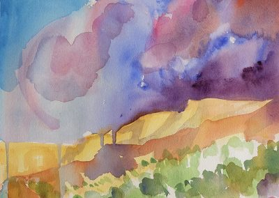 watercolor wander painting 2020 15 by New Mexico artist Dawn Chandler