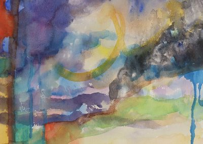 watercolor wander painting 2020 17 by New Mexico artist Dawn Chandler
