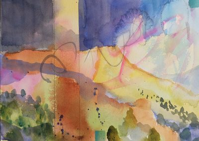 watercolor wander painting 2020 23 by New Mexico artist Dawn Chandler